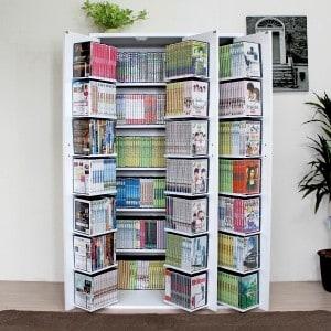 まるでタンス!収納力の高いドア付き本棚